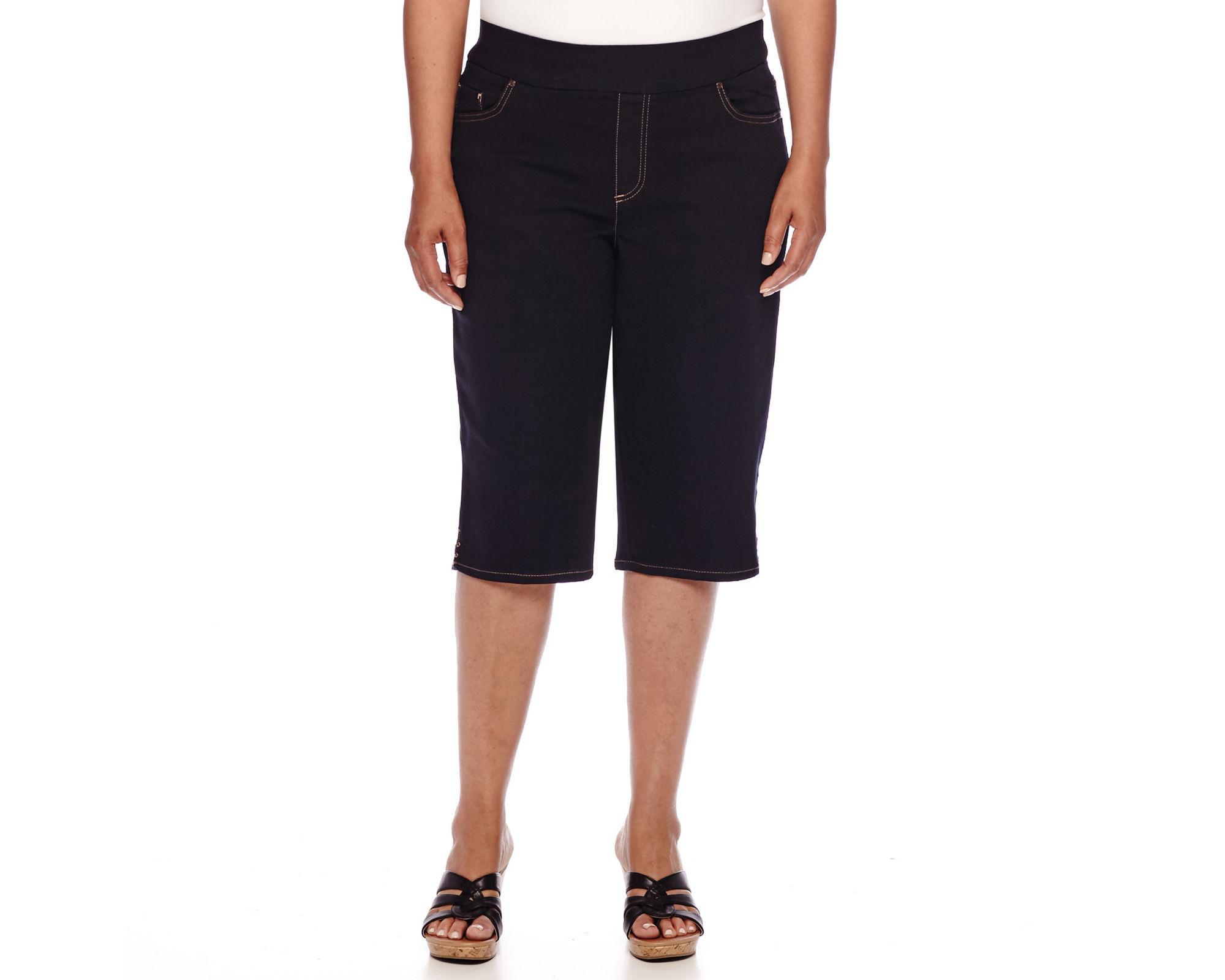 Gloria Vanderbilt Avery Pull On Skimmer Pants - Plus