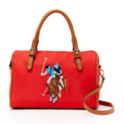 U.S. Polo Assn.® Chester Embroidered Satchel