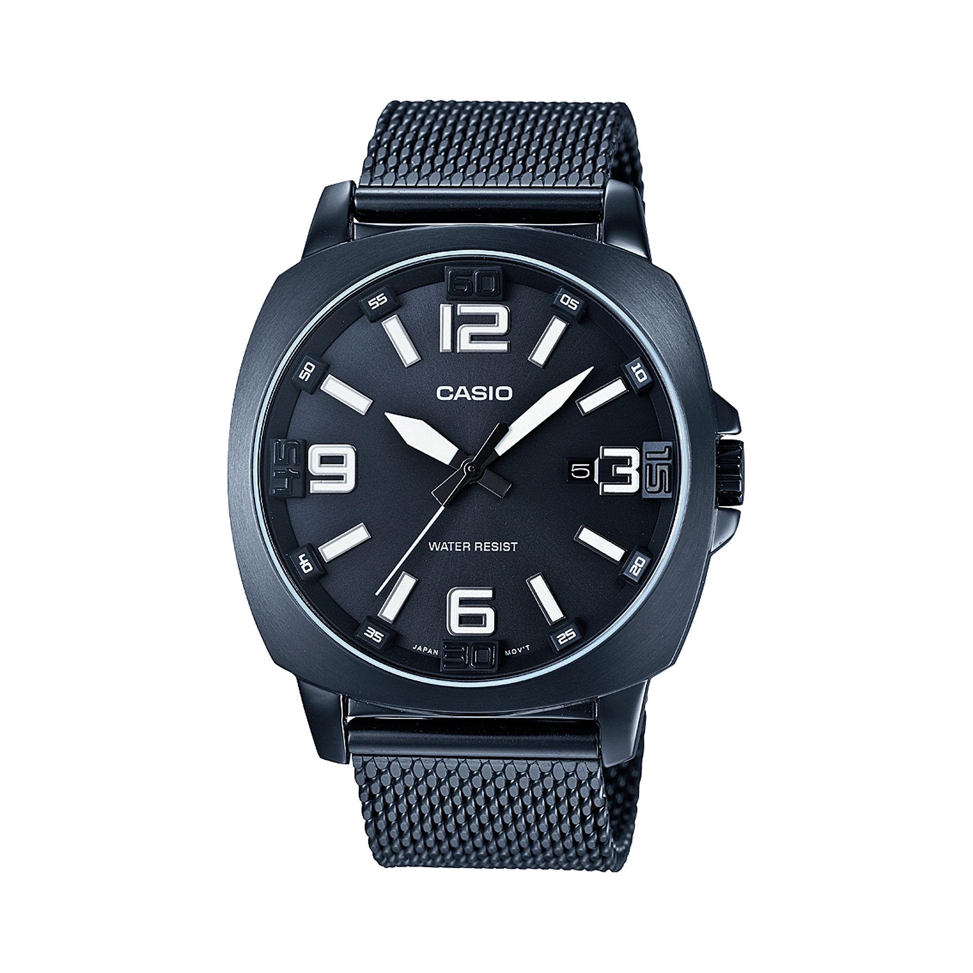 Casio Mens Steel Gray Mesh Strap Watch MTP1350CD-8A1