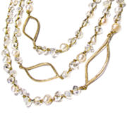 Pannee Silver-Tone & Pearl Triple-Row Chain Necklace