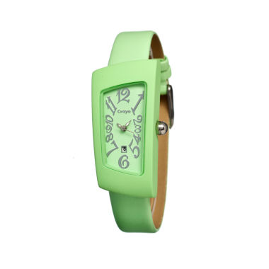 jcpenney.com | Crayo Womens Angles Mint Leather-Band Watch With Date Cracr0407