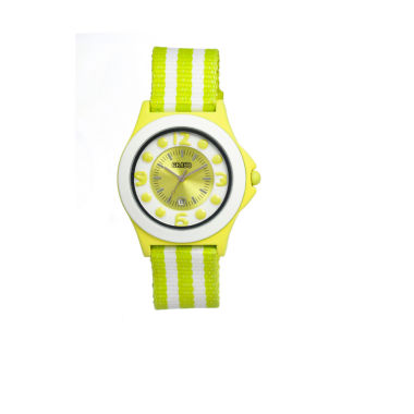 jcpenney.com | Crayo Womens Carnival Lime & White Nylon-Strap Watch With Date Cracr0706