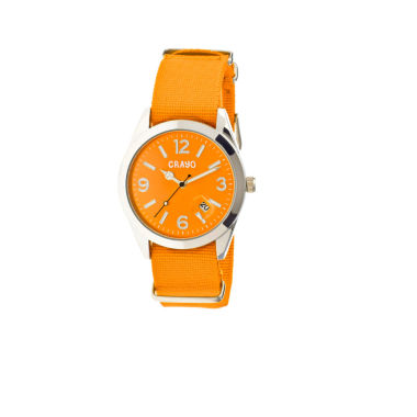 jcpenney.com | Crayo Women's Sunrise Orange Nylon-Band Watch with Date Cracr1704