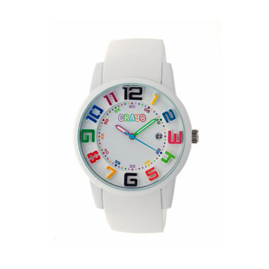 jcpenney.com | Crayo Women's Festival White Silicone-Band Watch with Date Cracr2001