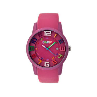 jcpenney.com | Crayo Women's Festival Fuchsia Silicone-Band Watch with Date Cracr2005