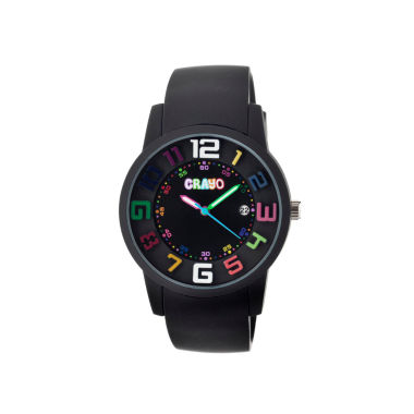 jcpenney.com | Crayo Women's Festival Black Silicone-Band Watch with Date Cracr2006