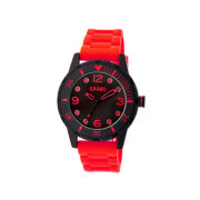 Crayo Unisex Splash Red Strap Watch Cracr2203