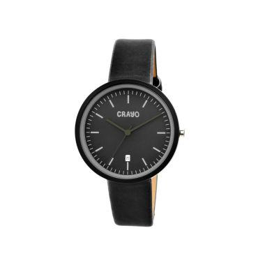 jcpenney.com | Crayo Womens Easy Black Leather-Band Watch With Date Cracr2402