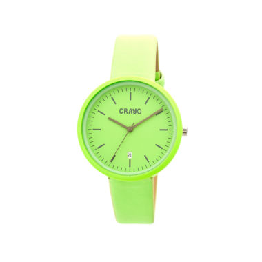 jcpenney.com | Crayo Womens Easy Mint Leather-Band Watch With Date Cracr2406