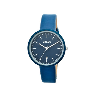 jcpenney.com | Crayo Womens Easy Navy Leather-Band Watch With Date Cracr2407
