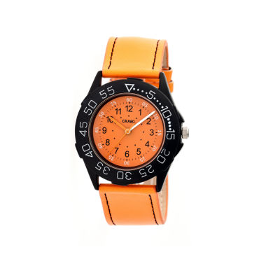 jcpenney.com | Crayo Womens Fun Orange Leather-Band Watch Cracr2504