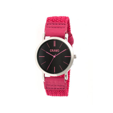jcpenney.com | Crayo Unisex Symphony Pink Nylon-Band Watch Cracr2706