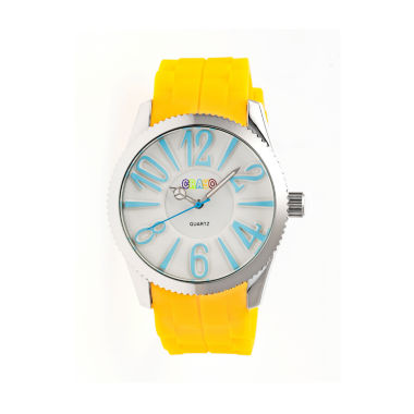 jcpenney.com | Crayo Womens Magnificent Yellow Strap Watch CRACR2903