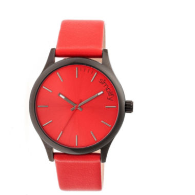jcpenney.com | Simplify Mens The 2400 Red Dial Leather-Band Watch SIM2405