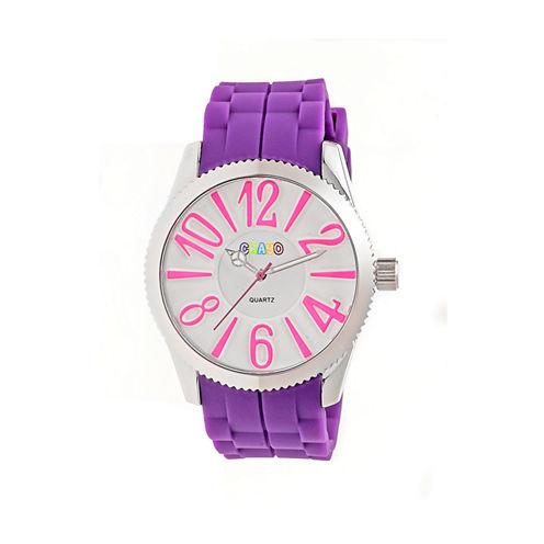 Crayo Womens Magnificent Purple Strap Watch CRACR2906