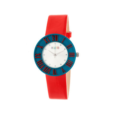 jcpenney.com | Crayo Womens  Prestige Red Strap Watch Cracr3107
