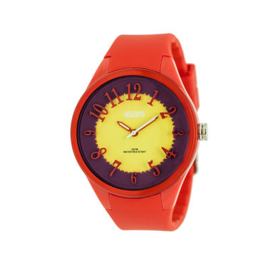jcpenney.com | Crayo Womens  Burst Red Strap Watch Cracr3201