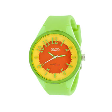 jcpenney.com | Crayo Womens  Burst Lime Strap Watch Cracr3202