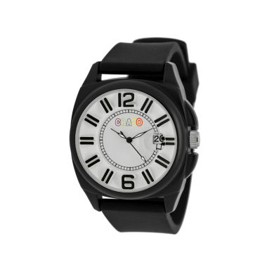 jcpenney.com | Crayo Sunset Black Silicone-Band Watch With Date Cracr3302