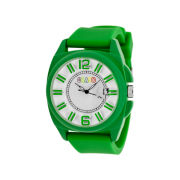 Crayo Sunset Lime Silicone-Band Watch with Date Cracr3306