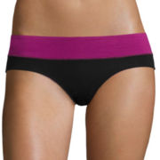 Flirtitude® Wide-Waistband Hipster Panties