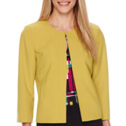 Chelsea Rose 3/4-Sleeve Seamed Jacket