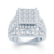 5 CT. T.W. Diamond 14K White Gold Multi-Top Engagement Ring 1