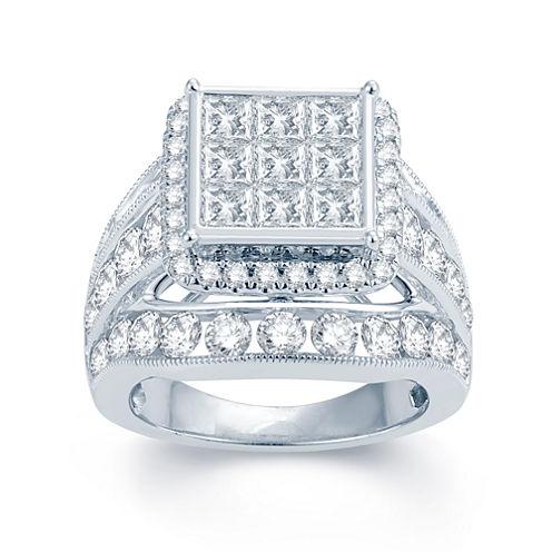 5 CT. T.W. Diamond 14K White Gold Multi-Top Engagement Ring 1
