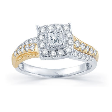 jcpenney.com | 3/4 CT. T.W. Diamond 14K Two-Tone Gold Engagement Ring