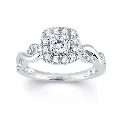 Modern Bride® Signature 3/4 CT. T.W. Diamond 14K White Gold Engagement Ring