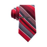 Van Heusen® Flex Satin Weft Stripe Tie - Slim