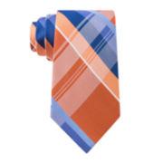 Stafford® Lakeside Plaid Silk Tie - Extra Long