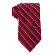 Stafford® Lakeside Stripe Silk Tie - Extra Long