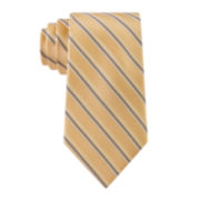 Stafford® Lakeside Stripe Silk Tie - Extra Long