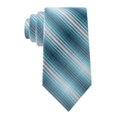 jcpenney.com | Van Heusen® Thin Textured Stripe Silk Tie - Extra Long