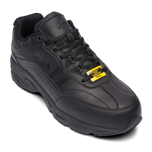 Fila® Memory Workshift Slip-Resistant Steel-Toe Mens Work Shoes