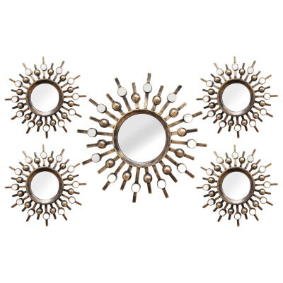 stratton home décor 5-pc. burst mirror set - jcpenney