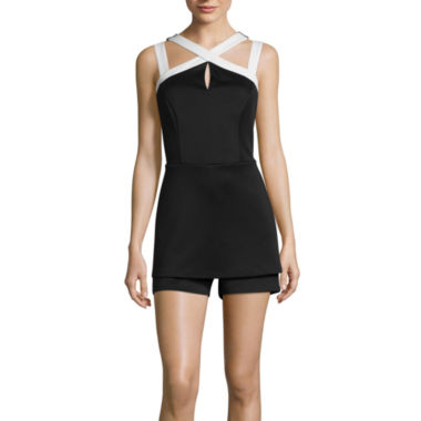 jcpenney.com | Bisou Bisou® Sleeveless Cage Romper