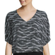 Worthington® Short-Sleeve Popover Blouse