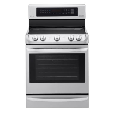 jcpenney.com | LG 6.3 cu. ft. Electric Single-Oven Range with ProBake Convection™ and EasyClean®