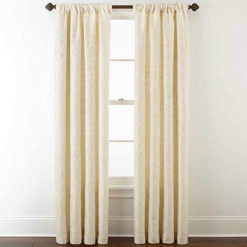 Royal Velvet® Octavia Jacquard Rod-Pocket/Back-Tab Curtain Panel