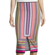 Bisou Bisou® Slit-Front Pencil Skirt