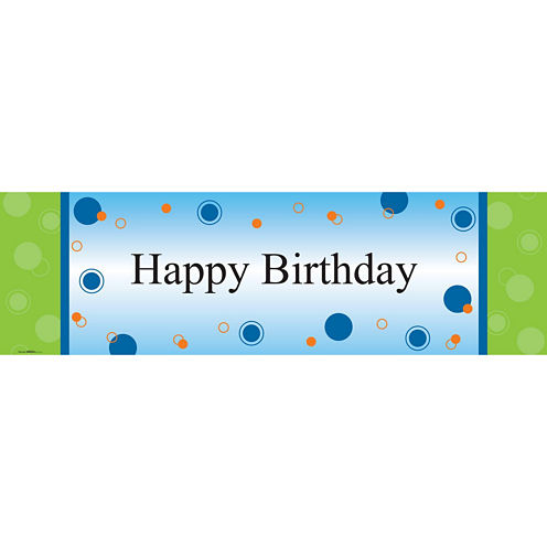 Party Birthday Banner Standard