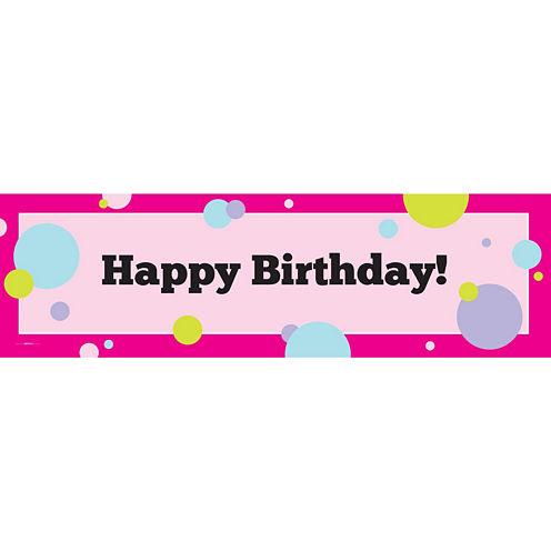 Party Girl Birthday Banner