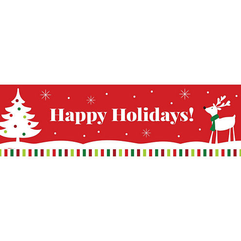 Reindeer Christmas Party Banner