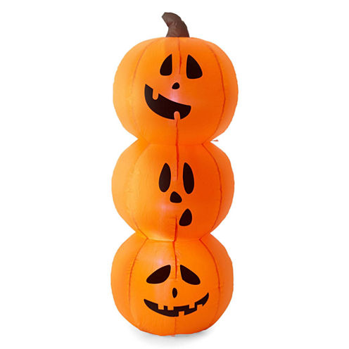 JCPenney Home 3.5ft Stacked Pumpkin Inflatable