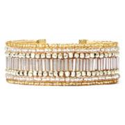 Mixit™ Seed Bead Gold-Tone Velvet Strap Bracelet