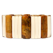 Liz Claiborne® Brown Stone Gold-Tone Stretch Bracelet