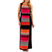 R&K Originals® Sleeveless Panel-Striped Maxi Dress - Plus