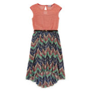 Speechless® High-Low Chevron Dress - Girls 7-16